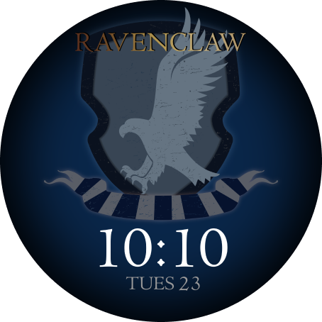 watch face with Ravenclaw emblem
