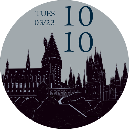 Harry Potter Limited Edition OnePlus Watch watch face with Hogwarts silhoutte