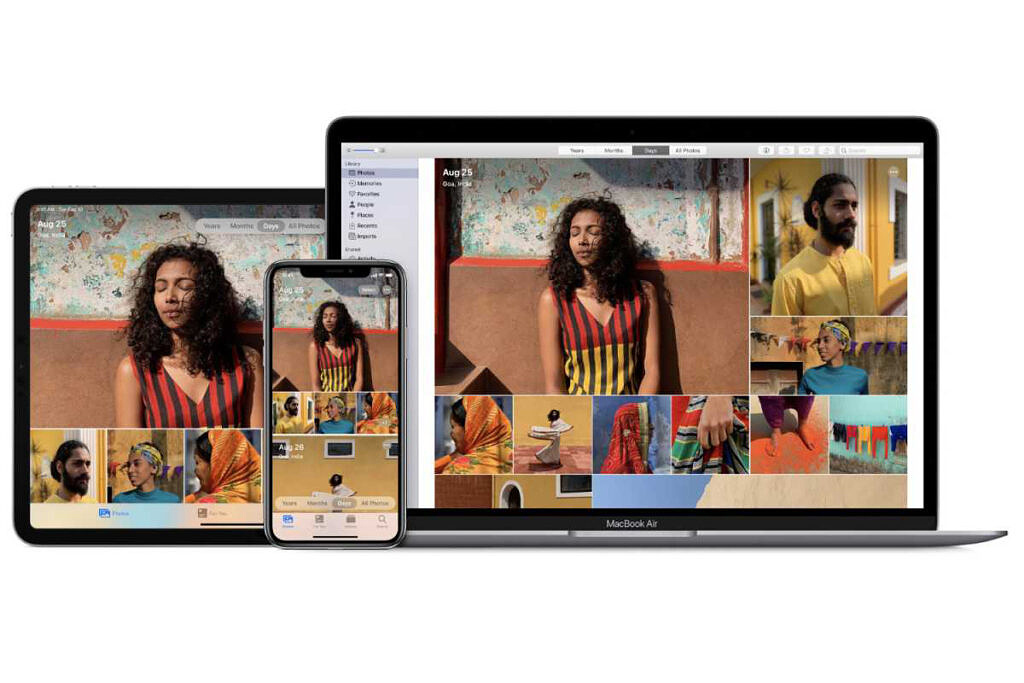 Image showing Apple Photos running on iPhones, iPad, and Mac