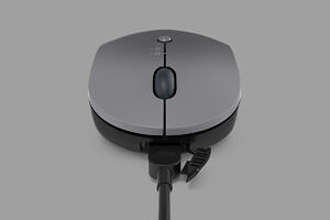 Lenovo Go Wireless Multi-Device Mouse with wire attached
