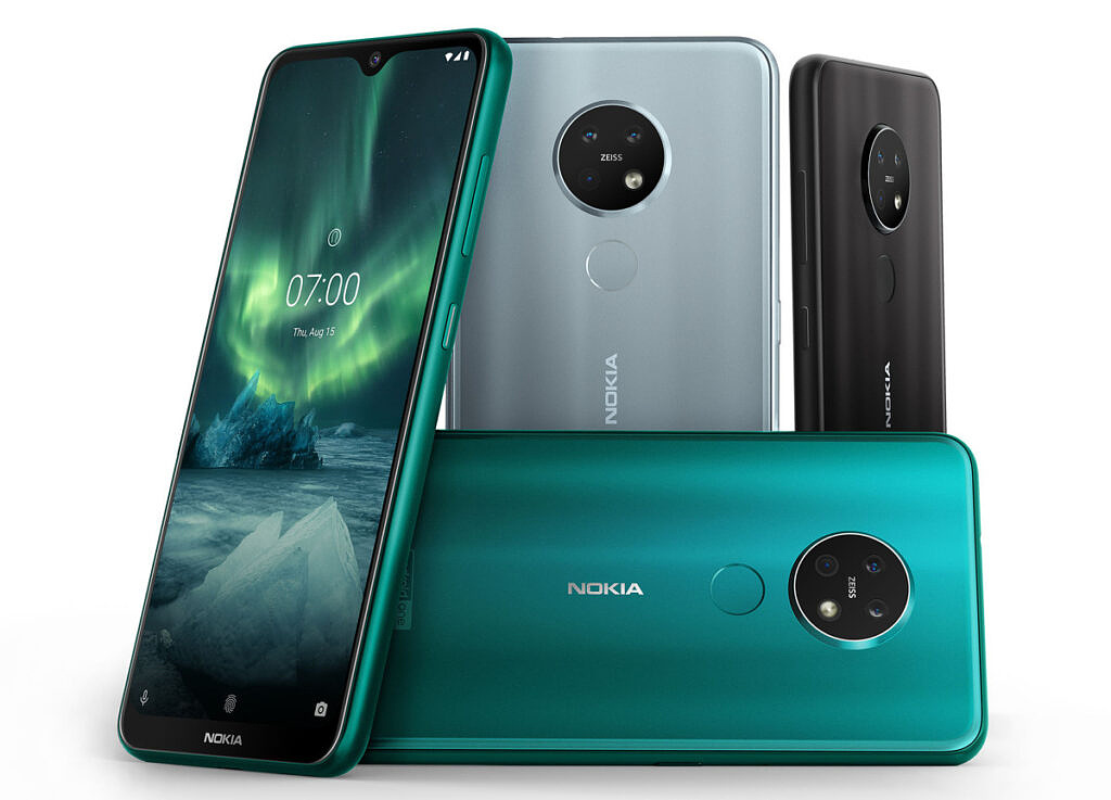 Nokia 7.2 in multiple colors