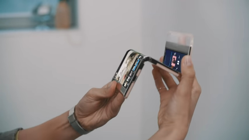 Samsung Display S-Foldable folding in three parts