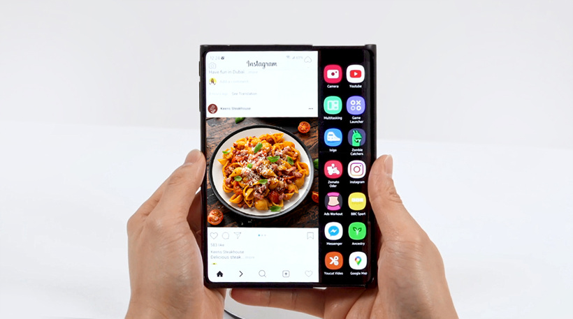 Slideable OLED panel concept from Samsung Display