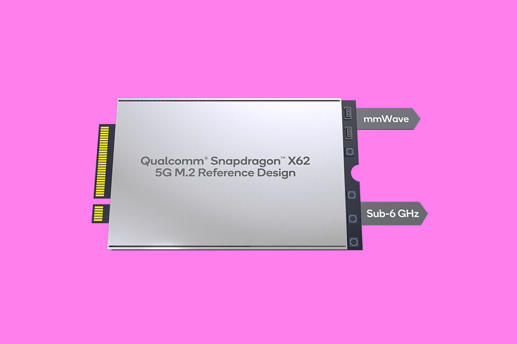 Snapdragon X65 5G M.2 with pink background