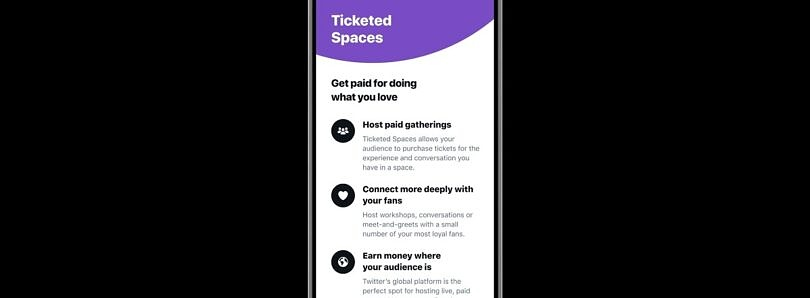 Twitter reveals details for Ticketed Spaces as U.S. launch nears