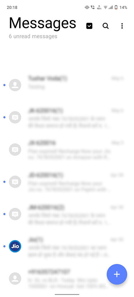 Vivo Funtouch OS 11 messages