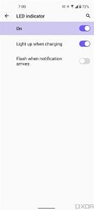 LED settings in ZenUI 8 on the ASUS ZenFone 8