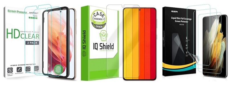 These are the Best Galaxy S21 Screen Protectors in Autumn 2021: ESR, amFilm, Spigen, and more!