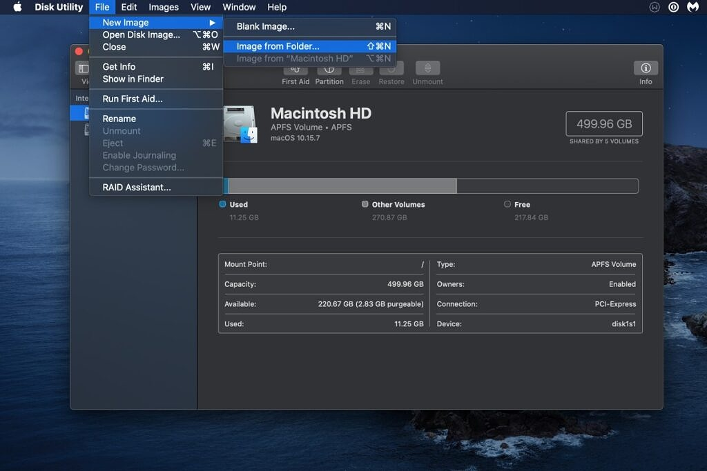 macOS Disk Utility Image from Folder