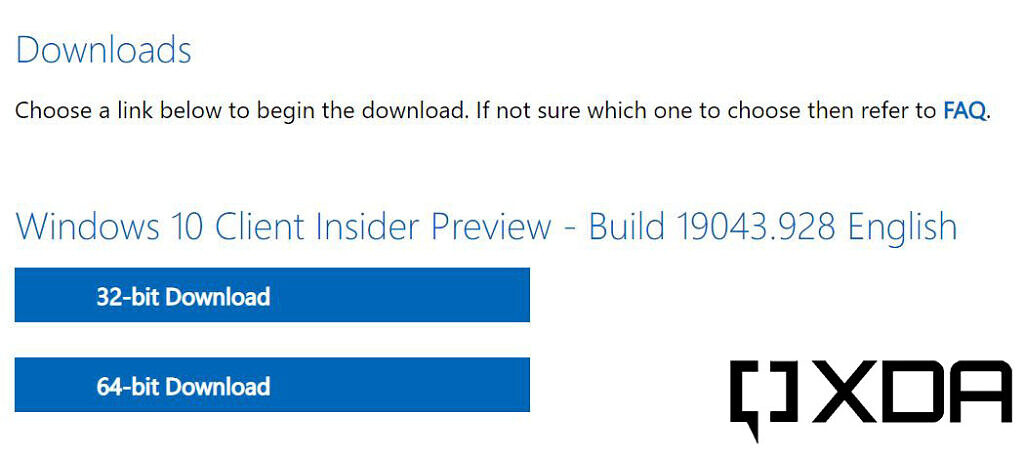 Choice between 32-bit or 64-bit Windows download