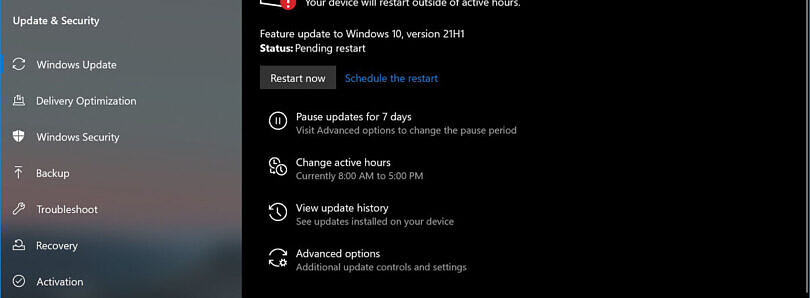 How to install the Windows 10 May 2021 Update right now