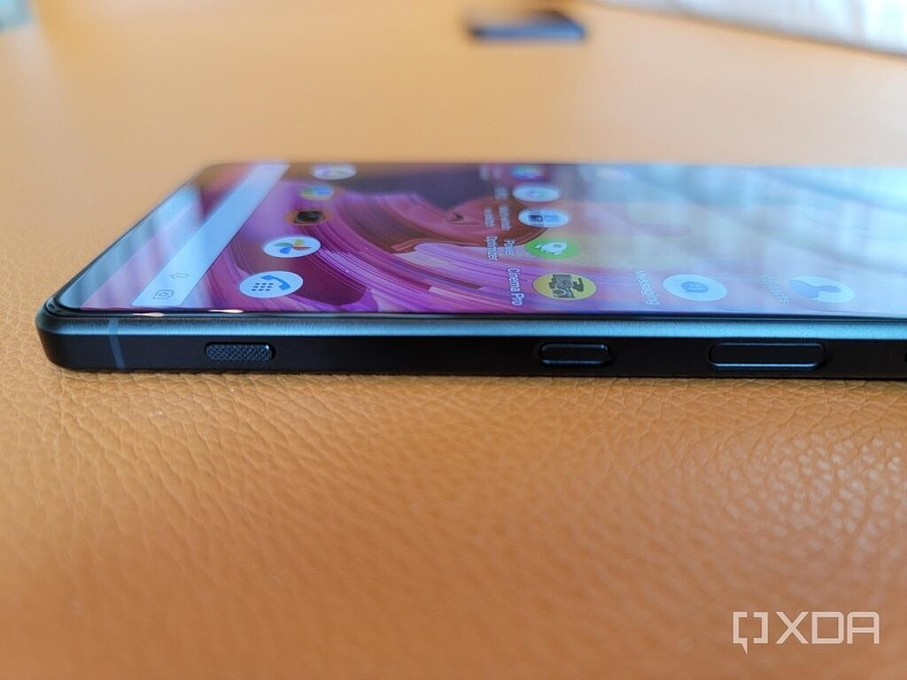 A dedicated camera shutter button on the bottom right side of the Xperia 1 III.
