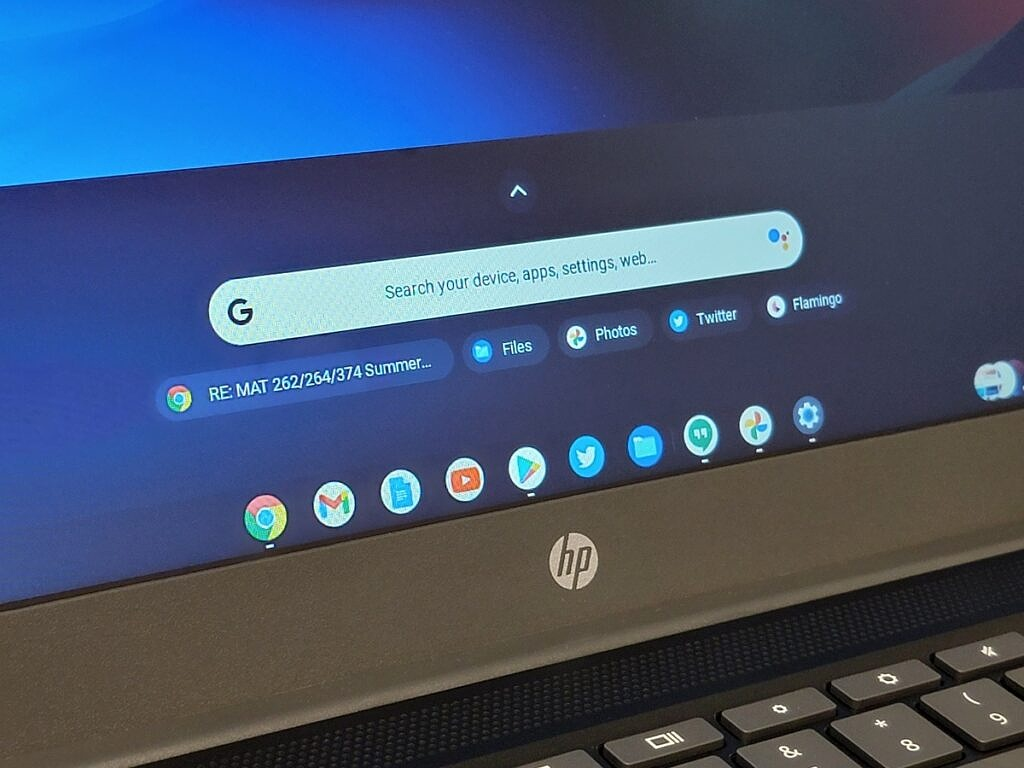 HP Chromebook dock and apps