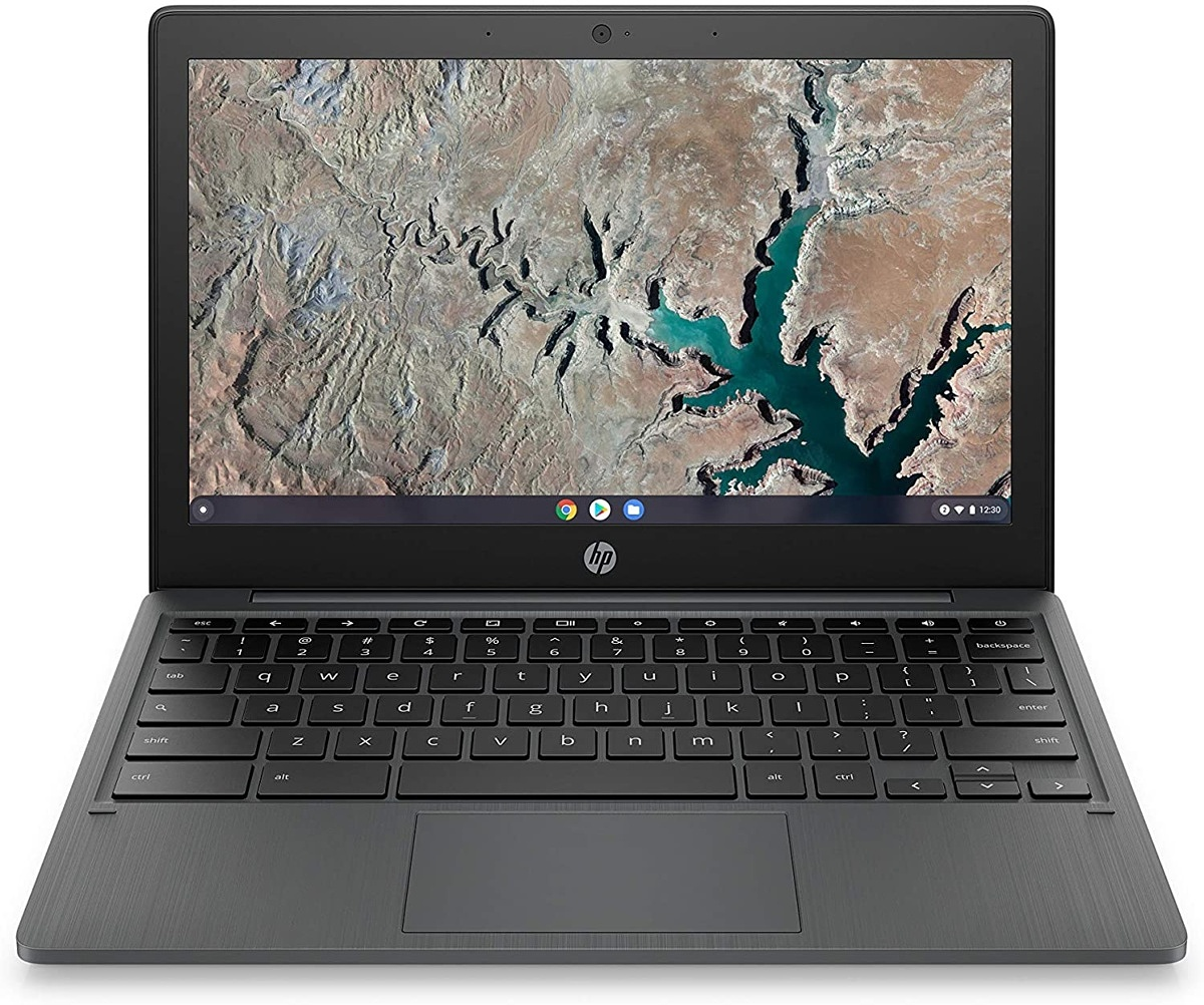 HP 11a open with keyboard facing outward