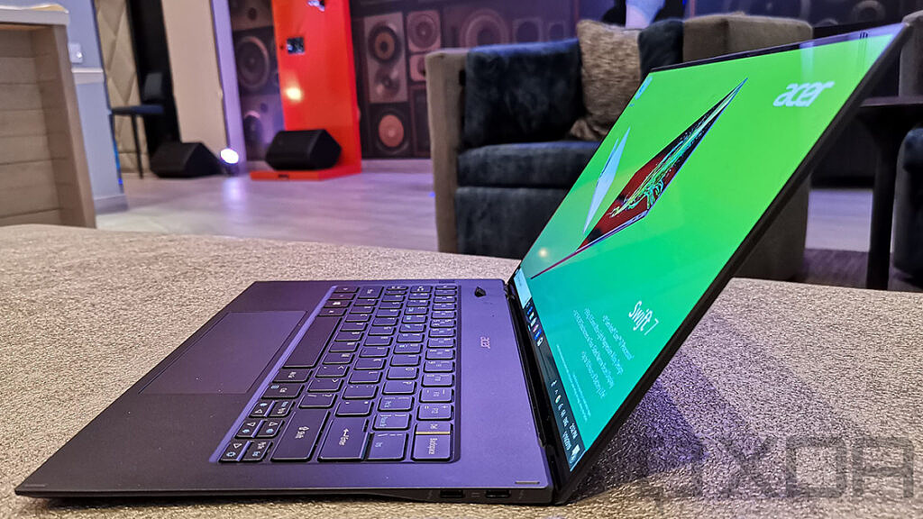 Angled view of Acer Swift 7