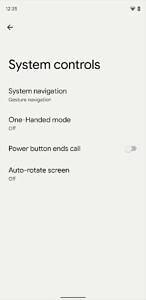System controls in Android