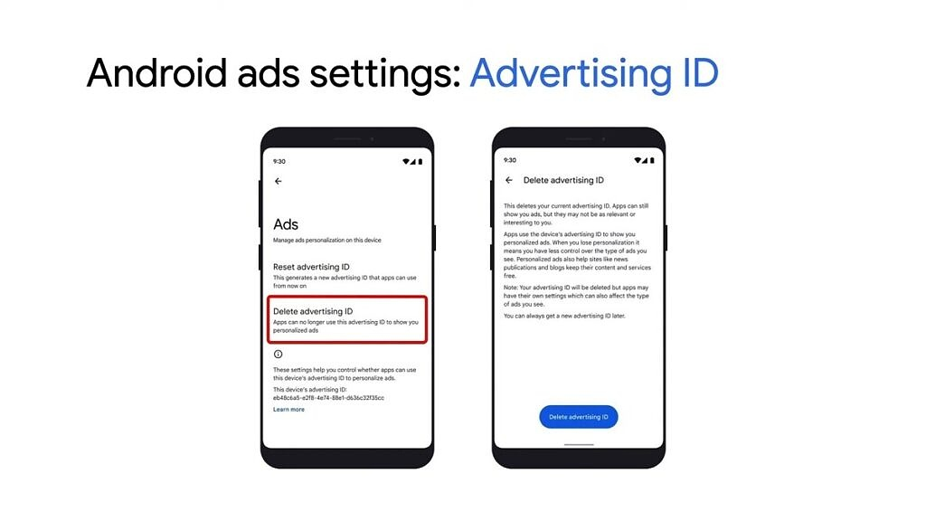 Deleting your advertising ID on Android 12