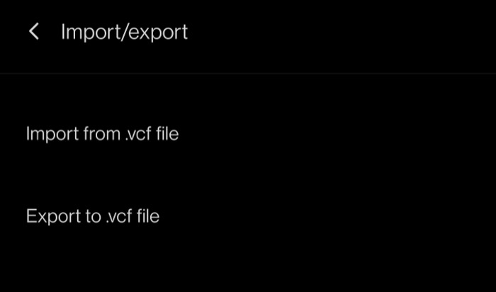Contact exporting