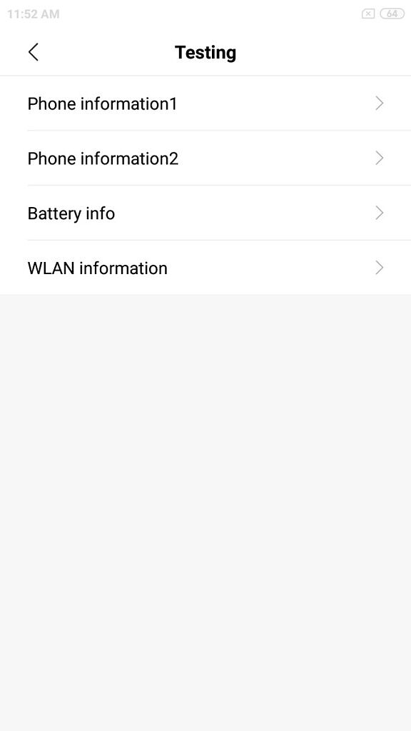 Android hidden codes phone info