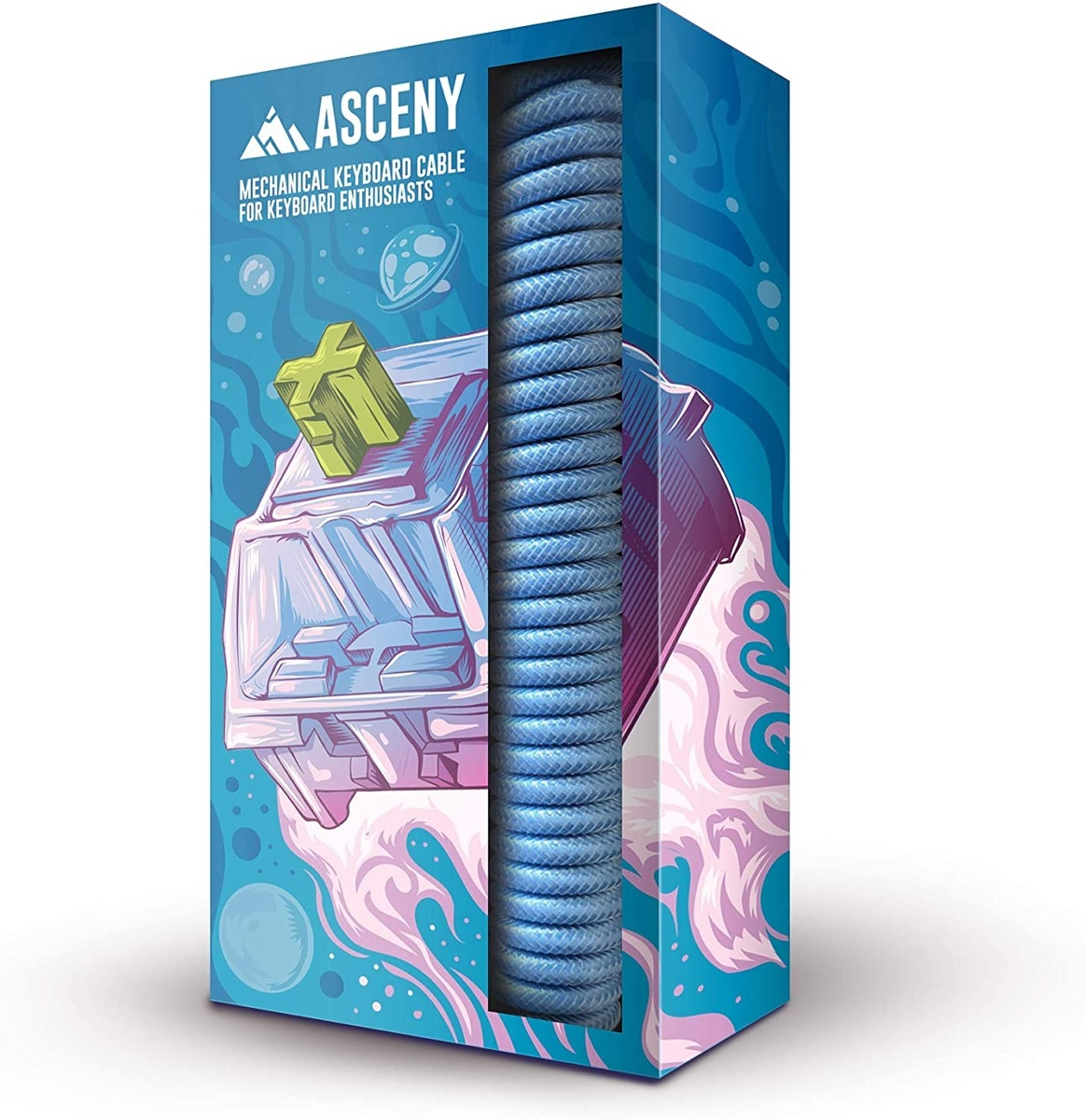 Asceny Coiled Mechanical Keyboard Cable