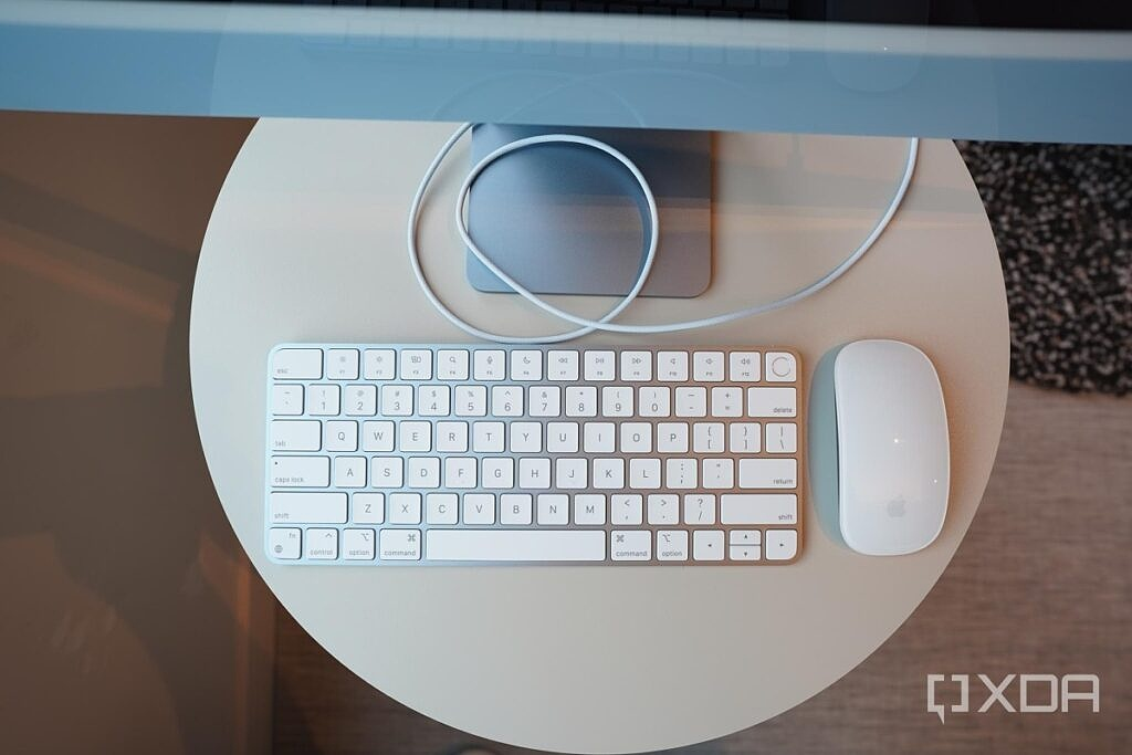 Apple's Magic Mouse and Magic Keyboard with an iMac