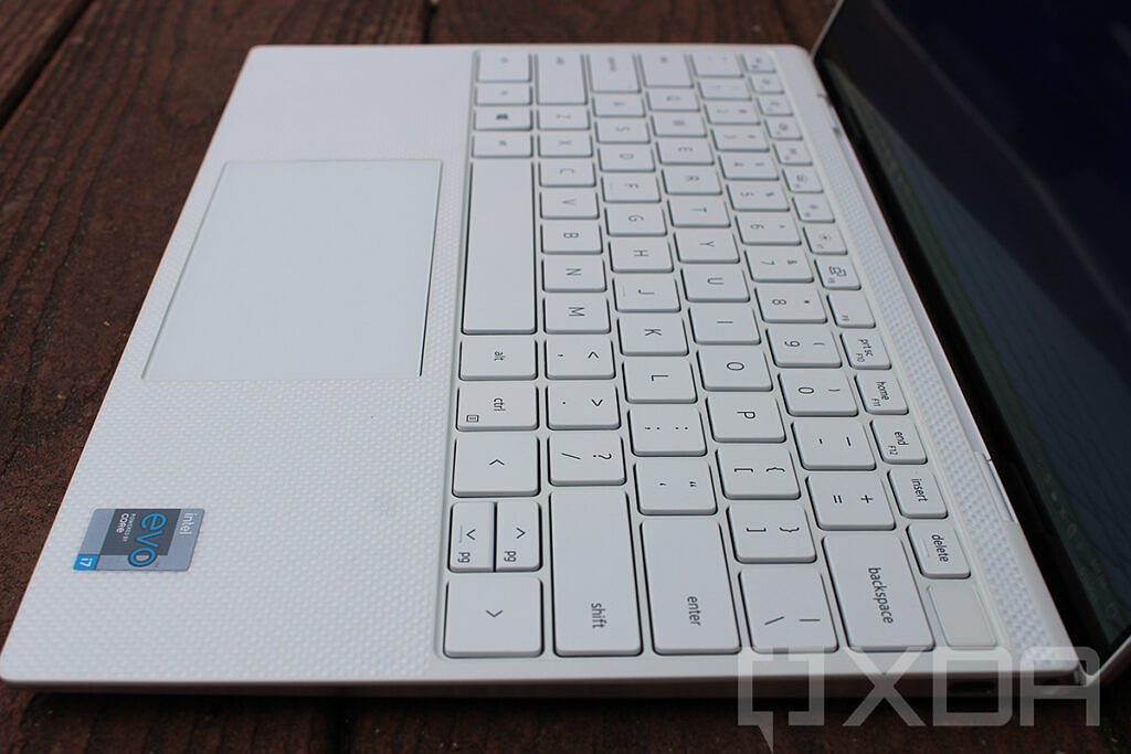 Dell XPS 13 keyboard angled view
