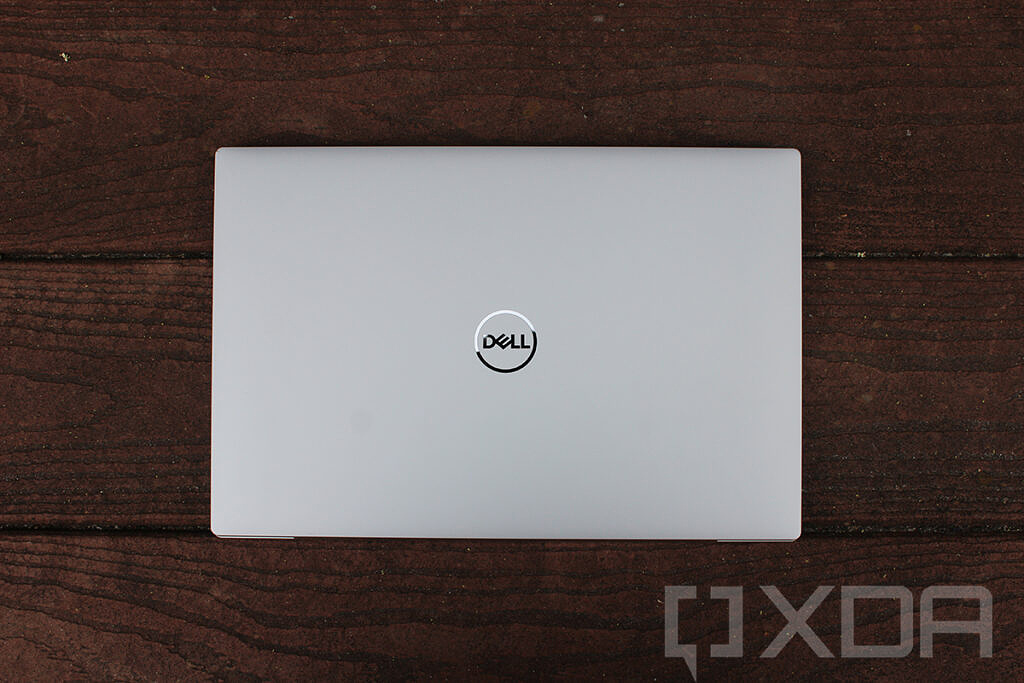 Top-down view of Dell XPS 13