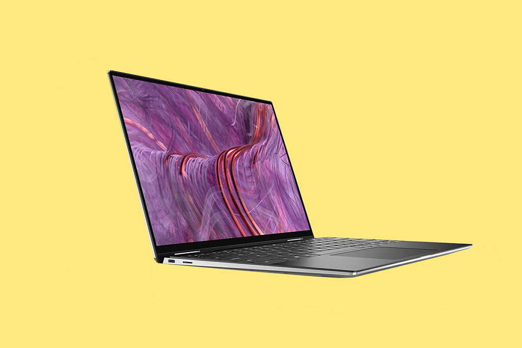 Dell XPS 13 9310 2-in-1 yellow background
