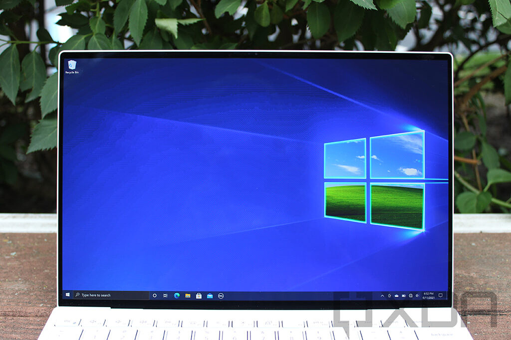 Close-up of Dell XPS 13 OLED screen