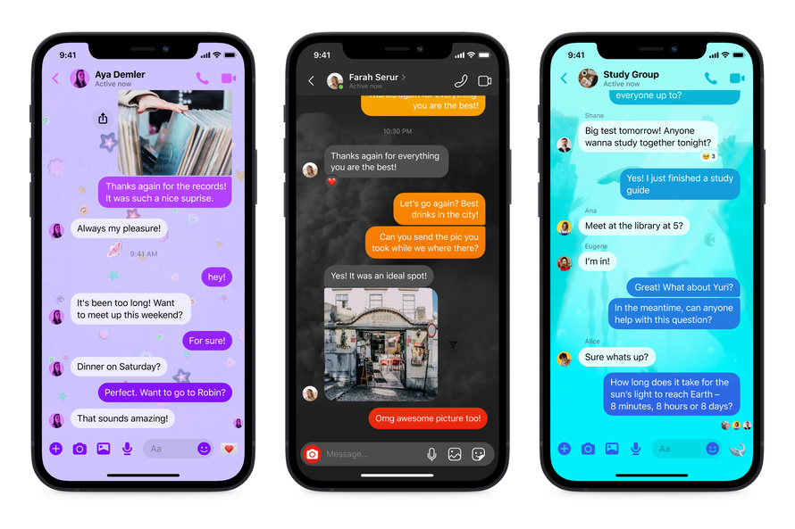Facebook Messenger receives new chat themes, a quick reply bar and more