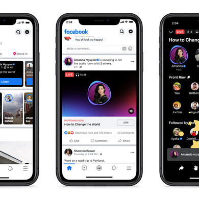Facebook rolls out Live Audio Rooms to creators, public figures, and groups globally