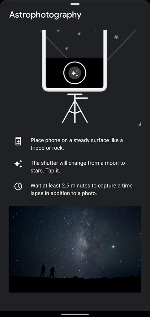 Google Camera 8.2.400 time-lapse astrophotography mentioned in tip