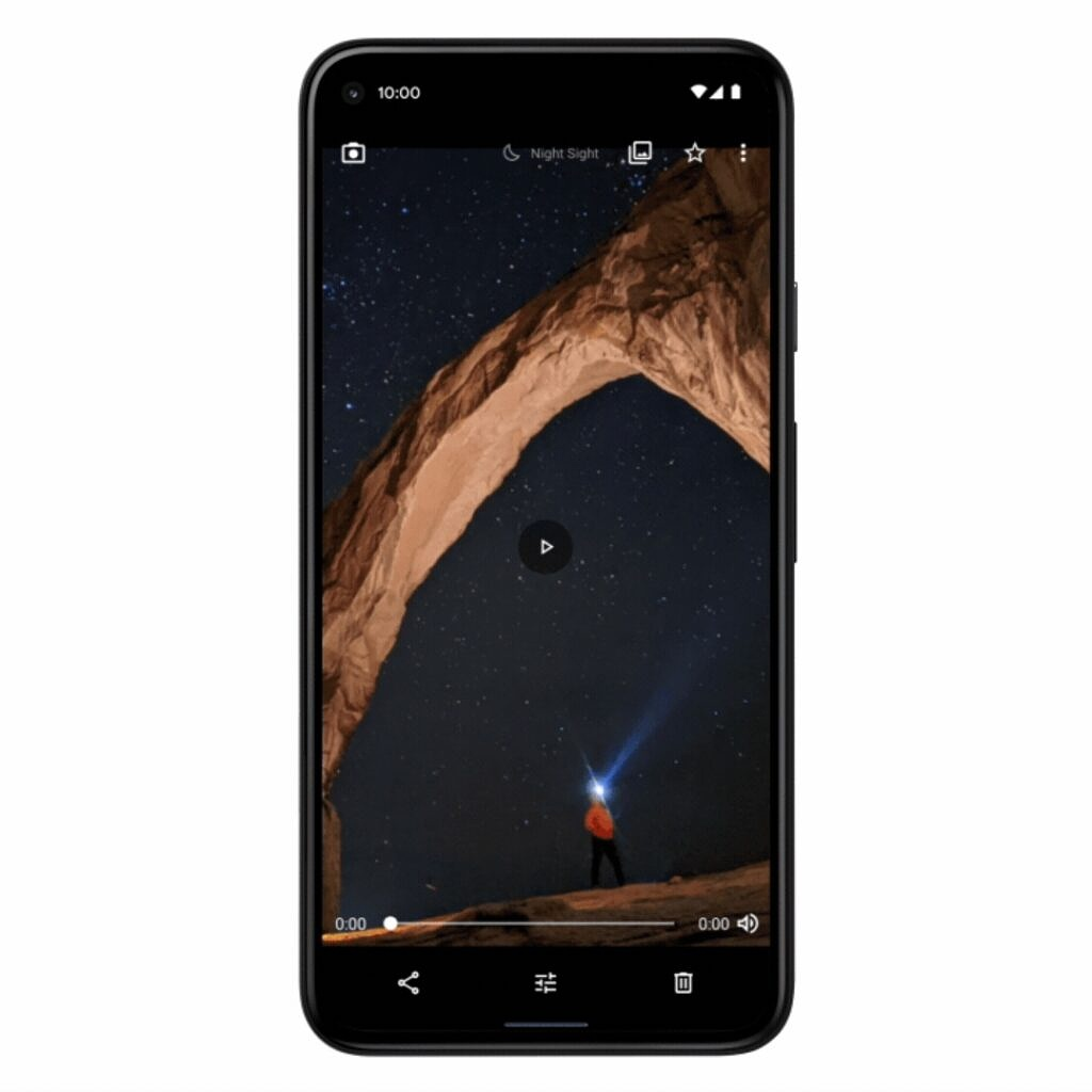 Saving a video astrophotography in Google Camera