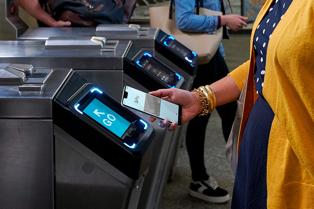 Google Pay being used for commuting