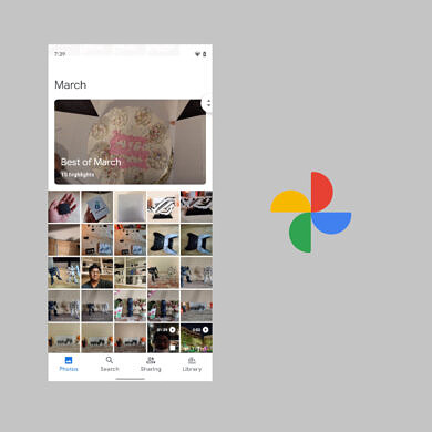 Google Photos tests larger text in the image library and other changes