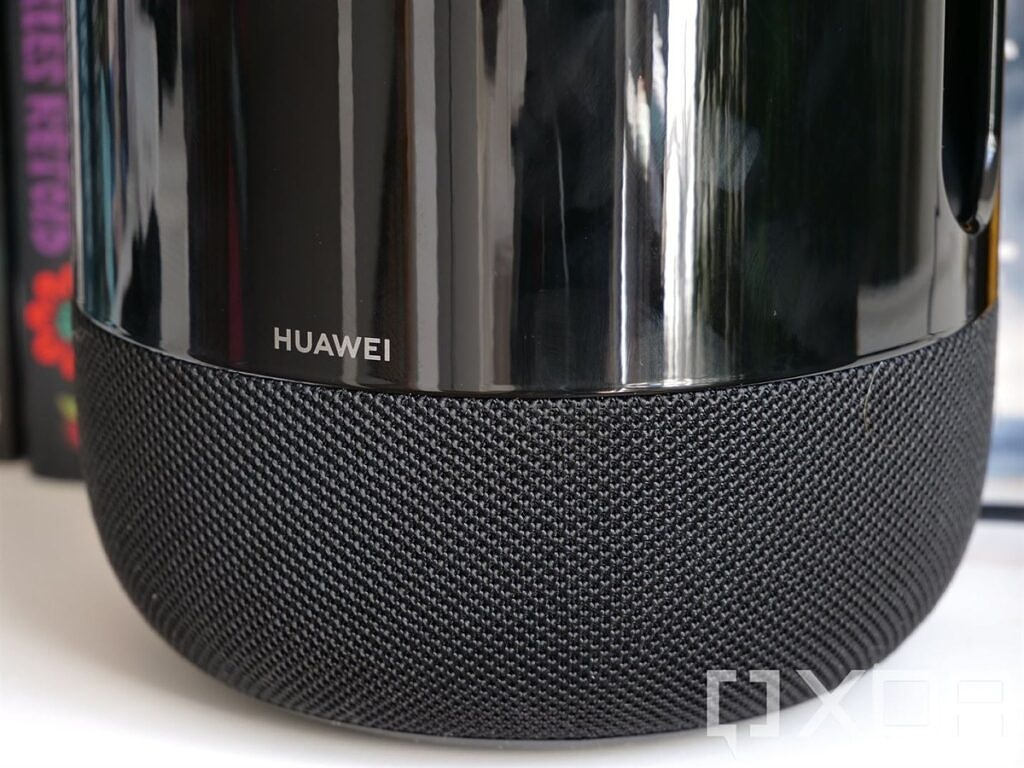 The Huawei logo on the Huawei Sound speaker