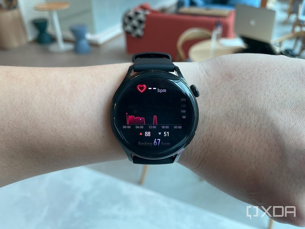 Tracking heart rate with the Huawei Watch 3