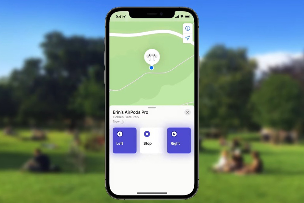 Locate AirPods using Find My app on iPhone