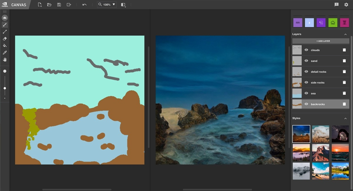 NVIDIA's Canvas app turns your doodles into photorealistic paintings