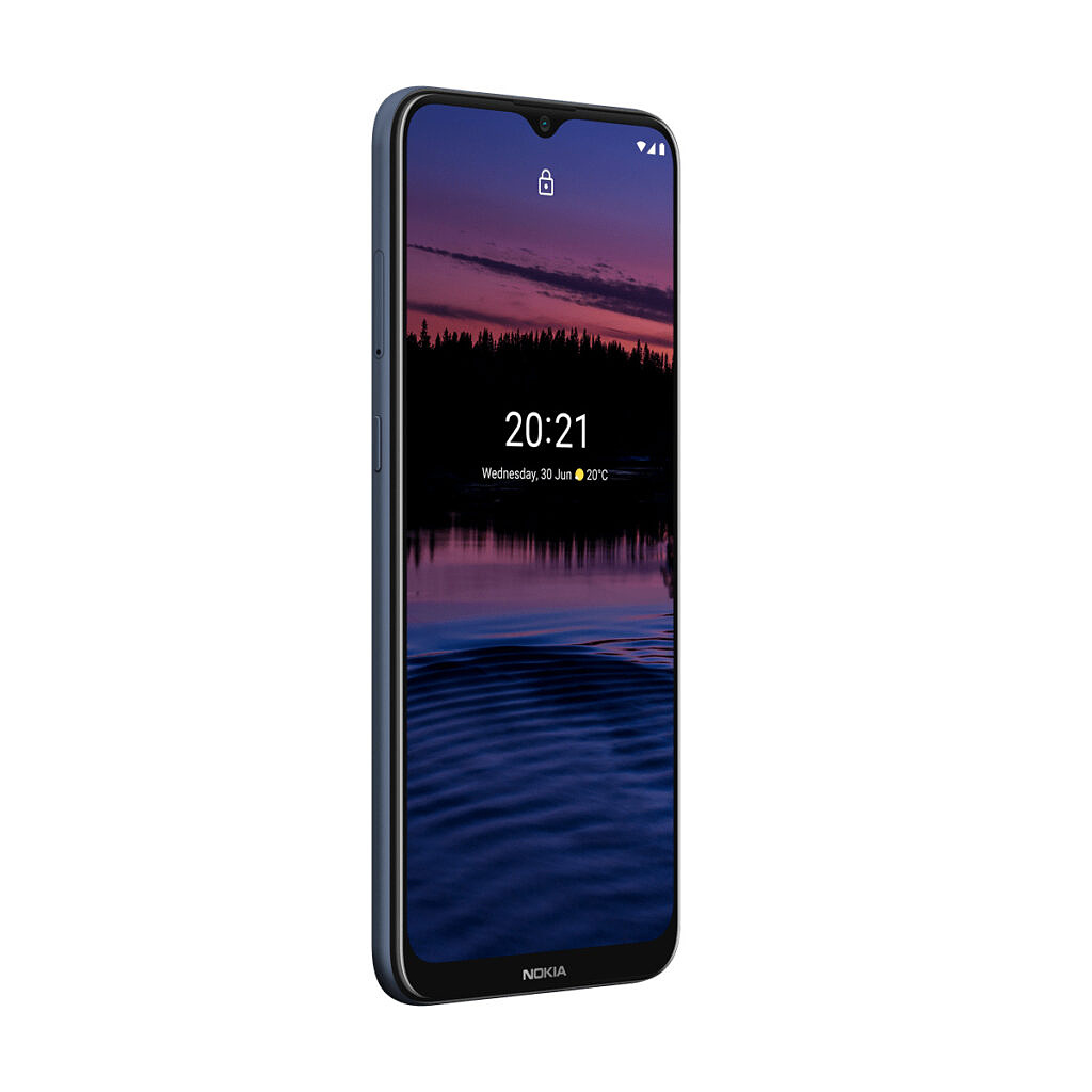 Nokia G20 night opposite side profile on transparent background