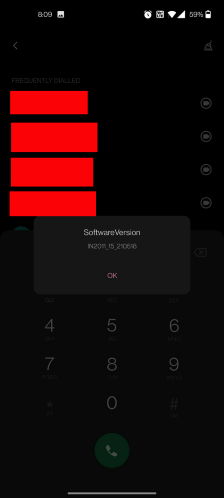 OnePlus Android hidden code software version