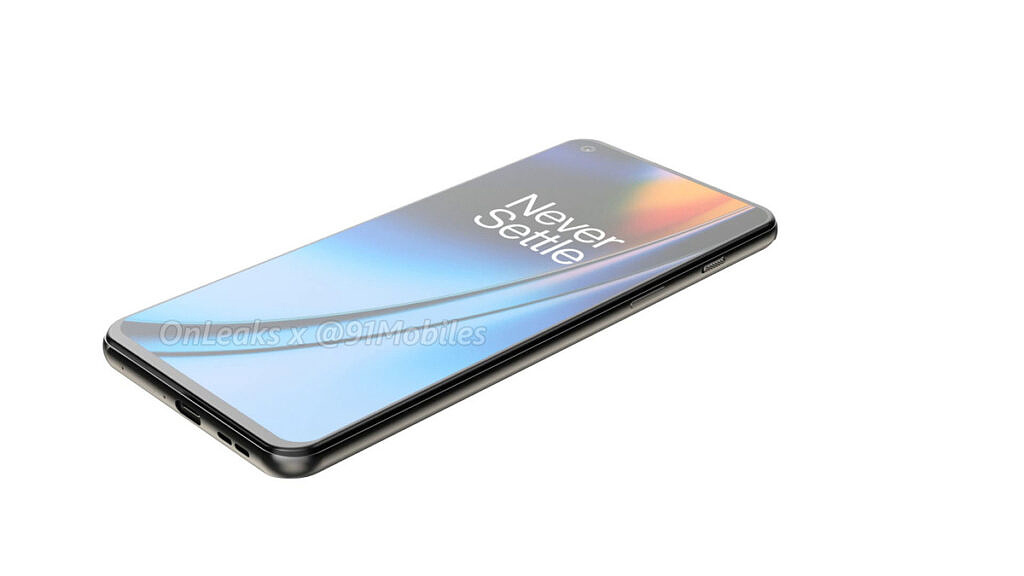 OnePlus Nord 2 leaked render right edge