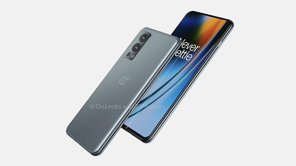 OnePlus Nord 2 leaked render front and back