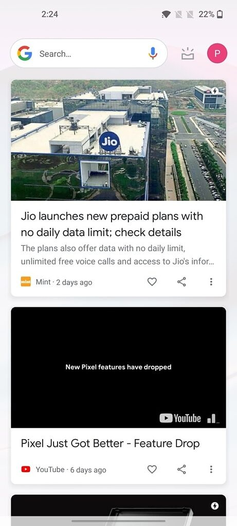 OnePlus Nord CE 5G Google Discover