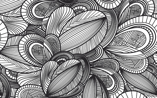 Pattern of Leaves Theme Chrome