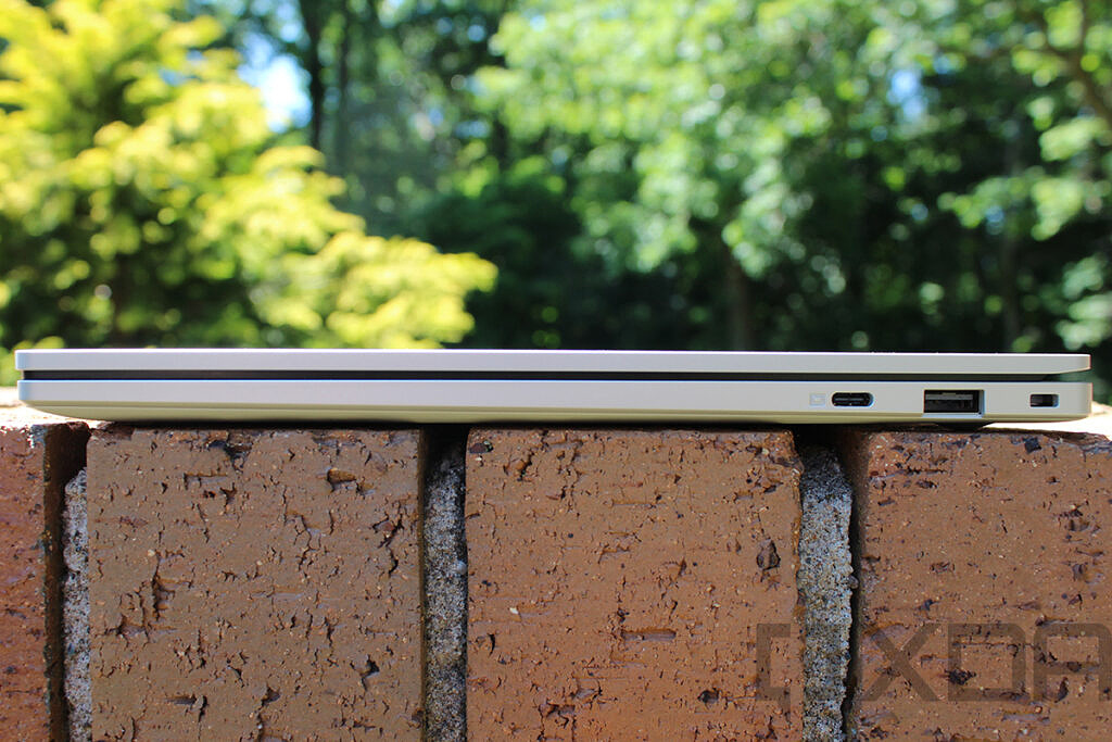 Side view of Samsung Galaxy Book Go