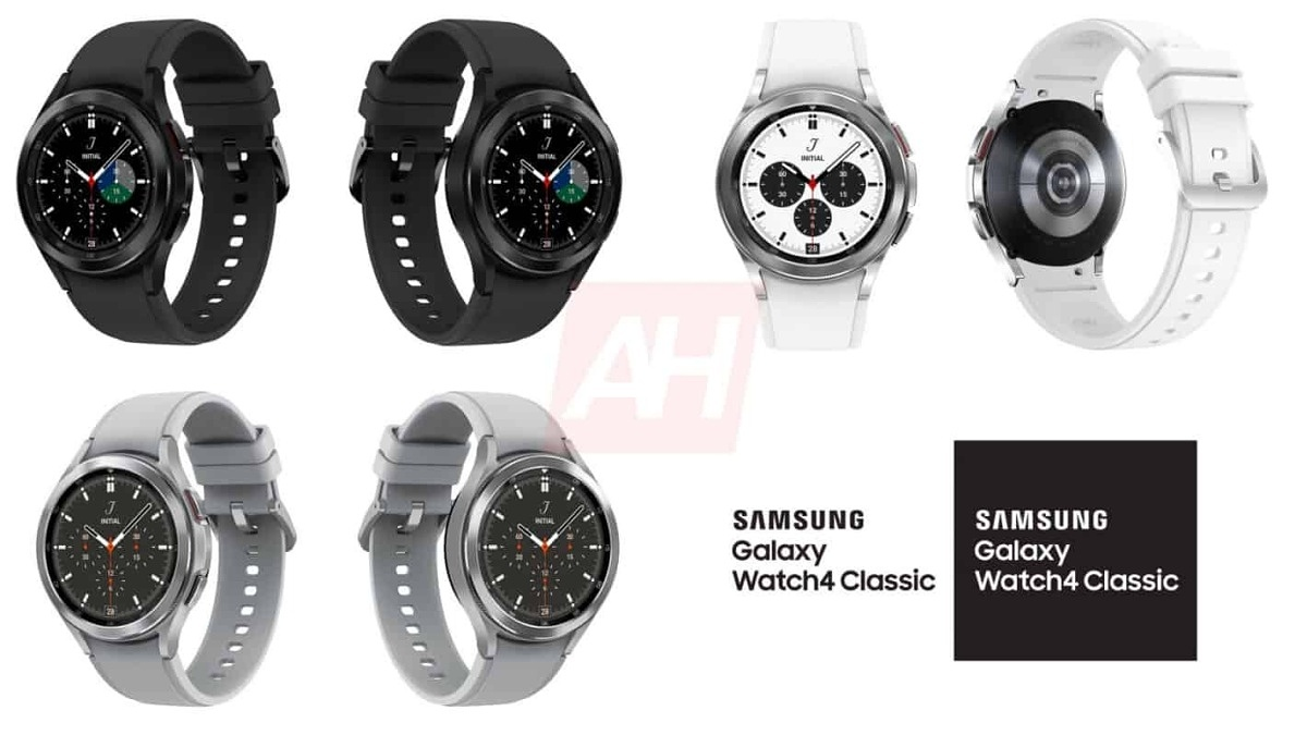 Samsung Galaxy Watch 4 Classic from multiple angles in different colors