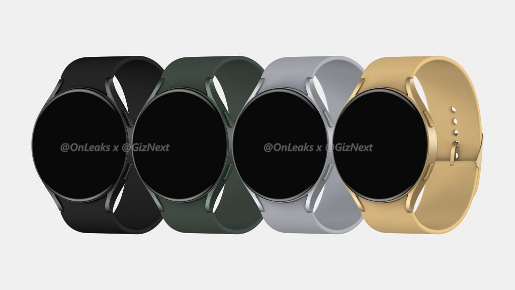 Samsung Galaxy Watch Active 4 leaked render all four colorways