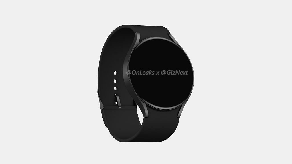 Samsung Galaxy Watch Active 4 leaked render black on gray background