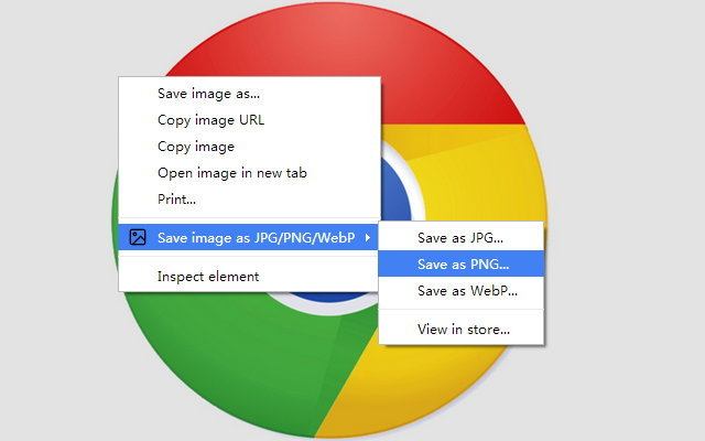 Save image as type for chrome